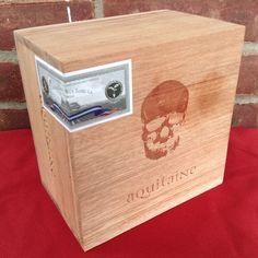 Aquitaine Cigar Box Skull Gothic Guitar Amp Clock Lamp Craft Storage Stash