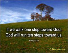 step by step toward God