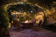 Firepit area - Traditional Patio by Peg Berens Interior Design LLC
