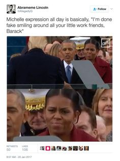 Funniest Donald Trump Inauguration Memes: Michelle Is done Fake Smiling