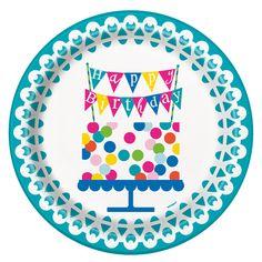 Confetti Cake Birthday Plates