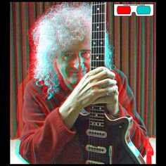 Brian May And The Red Special - 3D Anaglyph Photography.