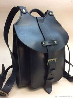 Buy Backpack made of leather crust, thickness Handmade. Backpack Straps, Leather Backpack, Leather Wallet, Buy Backpack, My Bags, Purses And Bags, Leather Purses, Leather Handbags, Sac Week End