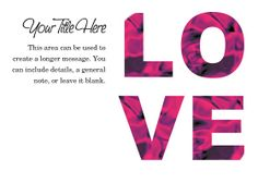Love on Valentine's Day designed by ThecoBoutique.com on Celebrations.com
