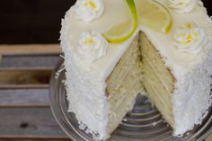 Lemon Chiffon Cake with Coconut Cream Cheese Frosting... oh my my! Just like Scentsy Bar, Lemon Coconut Chiffon!