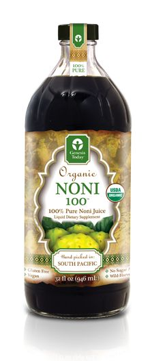 Noni100 by Genesis Today. Fruit from the South Pacific that contains over 140 essential nutrients. Its ability to balance blood sugar makes it especially good for treating diabetes. It can also be mixed with clay and applied topically for pain relief due to its anti inflammatory properties!
