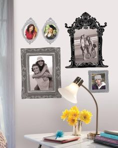Black & Gray Frames Peel & Stick Giant Wall Decals Wall Decal at AllPosters.com