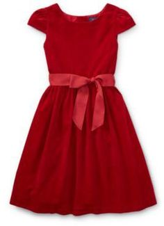 Ralph Lauren Corduroy Fit-And-Flare Dress Holiday Red 3T. #ad http://shopstyle.it/l/p6Hn