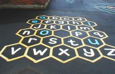 The Vica SL school play markings offer a range of options from maps to mazes & hopscotch to highways designed to provide exciting & versatile playgrounds.