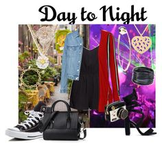 """""""Day to night romper"""" by tessa-janson ❤ liked on Polyvore featuring H&M, WearAll, Converse, Betsey Johnson, NOVICA, Kate Spade, Bebe, River Island, ABS by Allen Schwartz and DayToNight"""