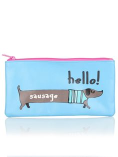 Pencil Case - Sausage Dog in a jumper | Clintons