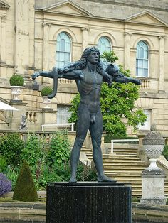 Orpheus - by Astrid Zydower; the most beautiful (and well endowed) bronze sculpture ever. He looks over the Terrace Garden at Harewood House in West Yorkshire. Scarborough Castle, Harewood House, Continental Europe, Irish Sea, West Yorkshire, North Sea, Terrace Garden, Buckingham Palace, Bronze Sculpture
