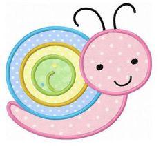 Snail applique machine emboridery design