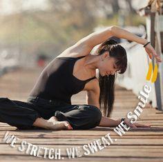 We Stretch. We Sweat. We Smile. #ownyourmark #tribesports #jointhetribe #challengeyourself  #fitness #motivation #fitspo #inspiration #yoga