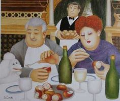 The Official Beryl Cook site - offering Beryl Cook's original paintings, prints, calendars, books, exclusive content, press cutt