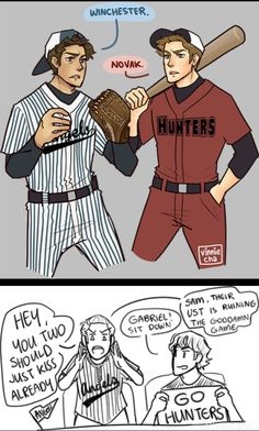College!AU in which Dean and Cas play for rival baseball teams