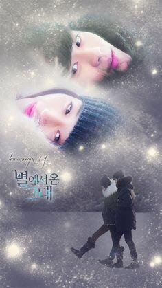 You Who Came From the Stars/My Love From Another Star/Mi Amor de las Estrellas Korean Actresses, Korean Actors, Korean Dramas, Kdrama, My Love From Another Star, Jun Ji Hyun, Net Flix, Star Wallpaper, Korean Art