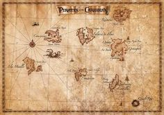 pirates of the caribbean map