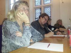 In de refter.Symposium 'De kunst van het schrijven', Centraal Museum, Utrecht, 29-11-2013.