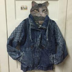Vintage Acid Wash Motorcycle Denim/Jean Jacket EUC, gorgeous wash, awesome pattern lining, has hidden pocket (pic4), size men medium, oversize on girls. R.D New York Jackets & Coats Jean Jackets