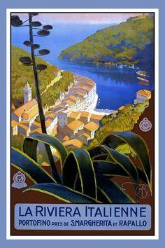 Italian Riviera Travel Poster