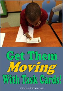 Ways to incorporate movement into your task card lessons!