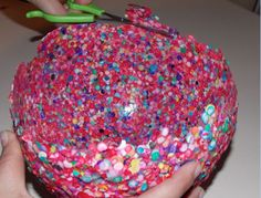 Kids Crafts: Homemade Crafts for Kids: Balloon Bowl Made with Confetti
