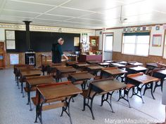 This is a present day Amish school, but it is like the class rooms where I went to school (except for the stove.  We had a furnace.).