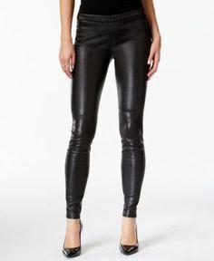 42ae1e532edae Michael Kors Faux-Leather Leggings & Reviews - Pants & Capris - Women -  Macy's