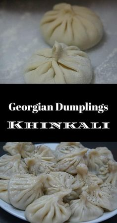 Khinkali (or Chinkali, Xinkali) - Georgian Beef and Pork Soup Dumplings. Find out why Khinkali are Georgia's National Dish along with a video demonstration to help you make them at home! Georgian Cuisine, Georgian Food, Georgian Recipes, Beef Recipes, Soup Recipes, Cooking Recipes, Easy Recipes, Pork Soup, Dumpling Recipe