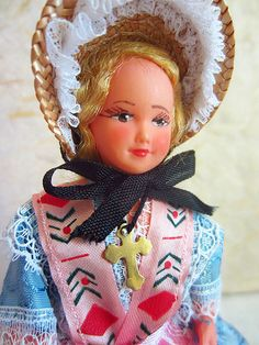 French Lyon costume doll folk doll vintage by plastickingdom