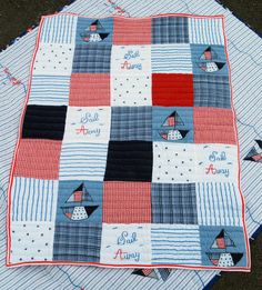 Cute idea for a baby quilt. Will have to do this