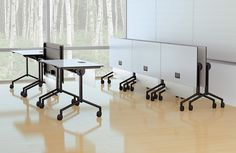 Looking for easy to move office tables, marker boards, and podiums? Kimball Office Scenario Tables offer multiple shaped tops with mobile, static, or folding legs.