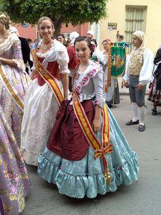 Indumentaria valenciana: Indianas: ¿vestidos para bailar o de faena?