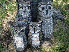 Rug Hooked Owls!