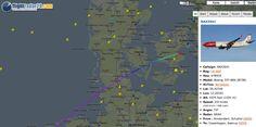 Flightradar of a Flight from Amsterdam to Kopenhagen