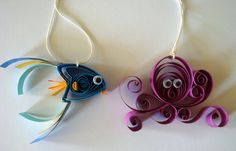 Quilled paper ornaments
