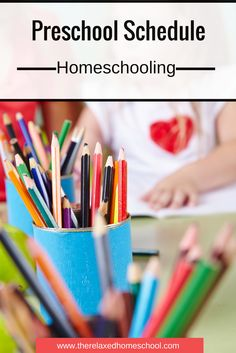Are you homeschooling preschool? Check out this preschool schedule to help your day go more smoothly.