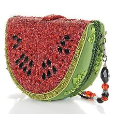Mary Frances Juicy Watermelon Beaded Bag