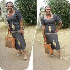 Glamorous Shweshwe Dresses 2019 ⋆ fashiong4 African Attire, African Fashion Dresses, African Dress, Shweshwe Dresses, Just In Case, Summer Time, Glamour, Shirt Dress, Wedding
