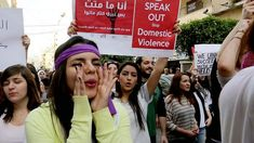Lebanese march agains domestic violence