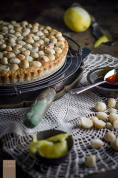 Macadamia and Treacle Tart Recipe | Chew Town Food Blog