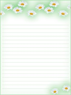 FREE Printable Floral Lined Stationery