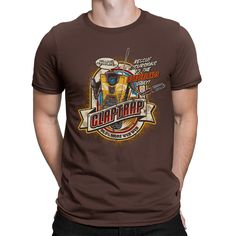 """With the Borderlands Claptrap t-shirt you'll probably meet more friends. But on Pandora, your options boil down to """"Desert crazed bandits constantly shooting at you"""" and """"Annoying robot that destroys"""