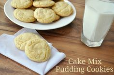 Cake Mix Pudding Cookies Recipe  1 cake mix, 1 small pudding, 2 large eggs, 1 stick butter. 350 for 6-7 minutes.