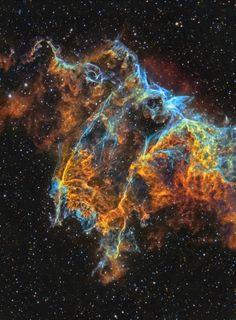 Veil Nebula - IC 1340 closeup | by J-P Metsävainio