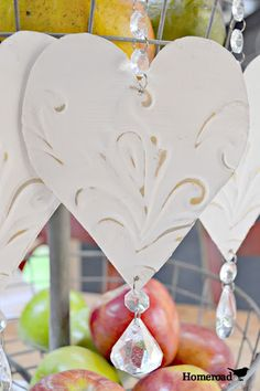 Homeroad-Tin Heart Bling Ornaments