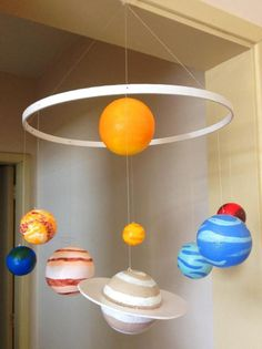 how to make solar system mobileRisultato immagini per solar system projects for kids