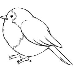 Magenta a Tiny Bird Cling Rubber Stamp Outline Drawings, Bird Drawings, Cartoon Bird Drawing, Bird Outline Tattoo, Drawing Cartoons, Outline Images, Cartoon Birds, Bird Embroidery, Embroidery Patterns