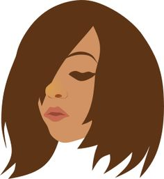 Beauty No 25 EmoGirl by @Rocio Nesbitt, beauty, brunette, clip art, clipart, emo, face, girl, head, woman,